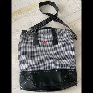 Nike houndstooth tote bag gym patent rainbow strap